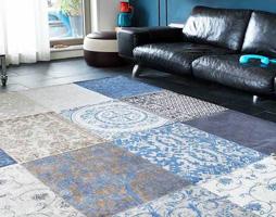 Vloerkleed blauw vloerkleden design shop.nl