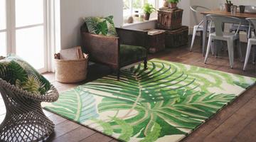 Vloerkleed groen vloerkleden design shop.nl