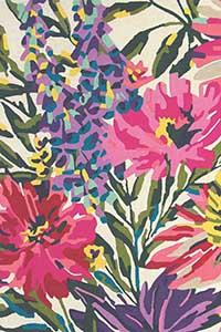 Vloerkleed Harlequin Floreale Fuchsia 44905