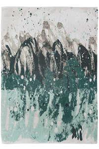 Vloerkleed Louis de Poortere Atlantic Green Waves Surf 8663