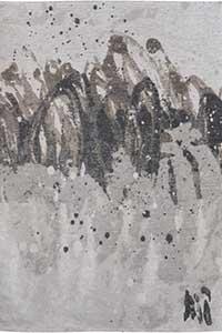Vloerkleed Louis de Poortere Atlantic Grey Waves 8640