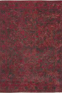 Vloerkleed Louis de Poortere Fading World Grey Red 8940