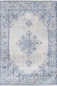Vloerkleed Louis de Poortere Khayma Blue Border Fairfield 8670