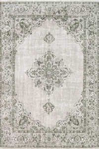 Vloerkleed Louis de Poortere Khayma Green Border Fairfield 8679