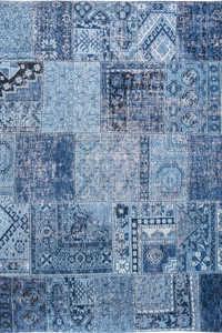 Vloerkleed Louis de Poortere Khayma Tuareg Blue Farrago 8781