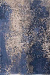 Vloerkleed Louis de Poortere Mad Men Abyss Blue Cracks 8629