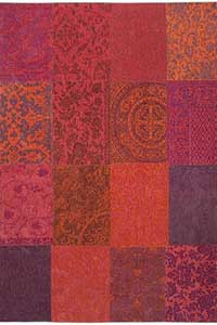 Vloerkleed Louis de Poortere Vintage Orange Purple 8103