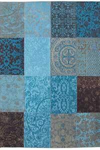 ACTIE - Vloerkleed Louis de Poortere Vintage Turquoise 8105 - 170 cm x 240 cm