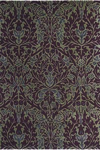 Vloerkleed Morris & Co. Morris Autumn-Flowers-Plum 27500