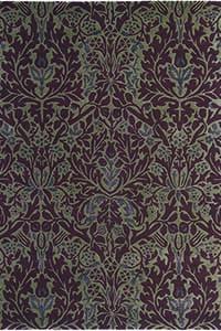 Vloerkleed Morris & Co. Morris Autumn-Flowers-Plum 27500