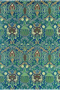 Vloerkleed Morris & Co. Morris Granada-Indigo/Red 27608