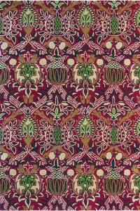 Vloerkleed Morris & Co. Morris Granada-Red/Black 27600