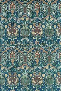 Vloerkleed Morris & Co. Morris Lodden-Indigo/Mineral 27808