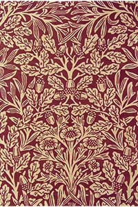 Vloerkleed Morris & Co. Morris Oak-Crimson 27900