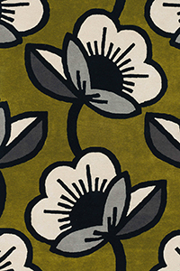 Vloerkleed Orla Kiely Passion Flower Olive 59607