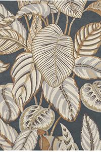 Vloerkleed Sanderson Calathea Charcoal 50805