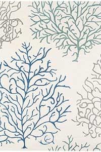 Vloerkleed Sanderson Coral-Marine-Blue 46308