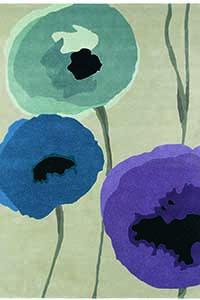 Vloerkleed Sanderson Poppies-Indigo 45705