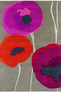 Vloerkleed Sanderson Poppies-Red 45700
