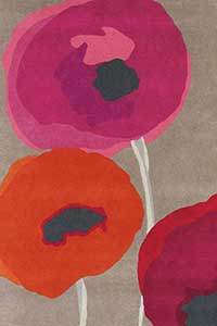 Vloerkleed Sanderson Poppies-Red 45700