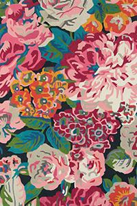 Vloerkleed Sanderson Rose & Peony Cerise 45005