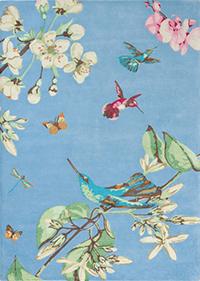 Vloerkleed Wedgwood Humming Blue 37808